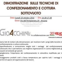 INVITO DEMO TECNICHE DI COTTURA GIOACCHINI srl